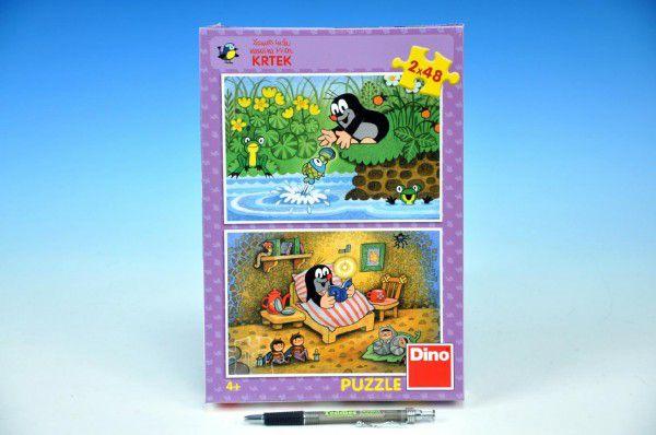 Dino Krtek a perla v krabici 2x48 dílků