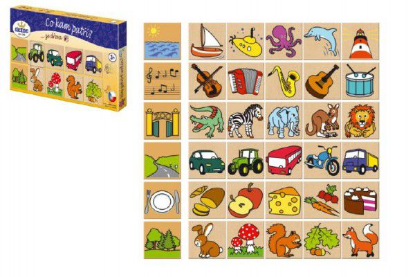 Detoa dřevěné puzzle co kam patří