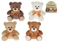 Medvěd s mašlí plyš 15cm sedící - 4 barvy