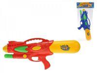 Vodní pistole plast 48cm s pumpou asst 2 barvy v sáčku