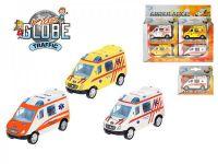 Auto Ambulance 8cm kov zpětný chod asst 3 barvy v krabičce