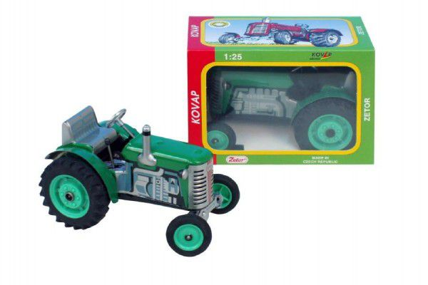 Kovap Traktor Zetor zelený na klíček kov 14cm