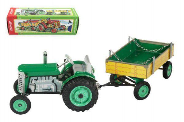 Kovap traktor ZETOR s valníkem zelený