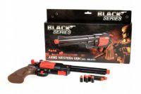 Pistole/kolt na pěnové náboje plast 36cm v krabici Black Series