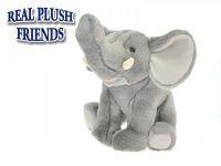 Slon plyšový 23cm sedící v sáčku 0m+