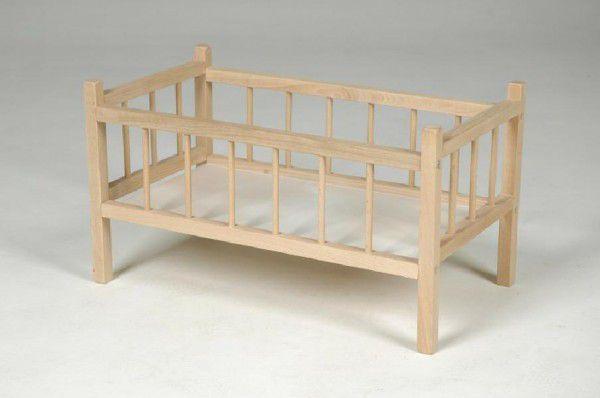 TEDDIES Postýlka pro panenky dřevěná 49x28x28 cm