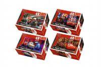 Minipuzzle Cars 2/Disney 54dílků v krabičce 9x6x3cm - 4 druhy