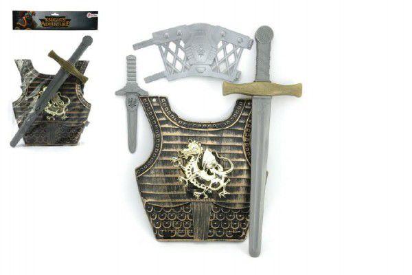 Rytířská sada brnění plast meč 50cm + doplňky