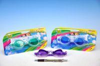 Plavecké brýle KIDS asst 3 barvy na kartě 20x11cm 3-6 let