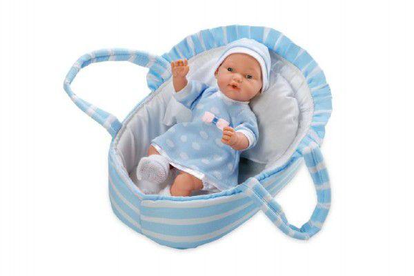 Teddies Panenka/miminko vonící měkké tělo 28cm modré v tašce