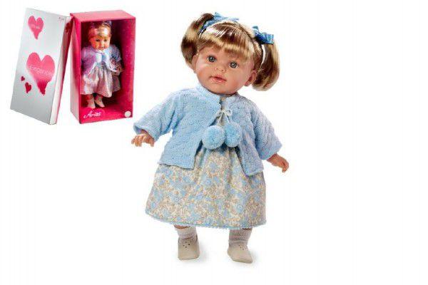 Arias Smějící se panenka v modrých šatech