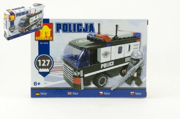 Teddies Dromader Policie 23404 Stavebnice Auto Dodávka 127ks v krabici 22x15x4,5cm