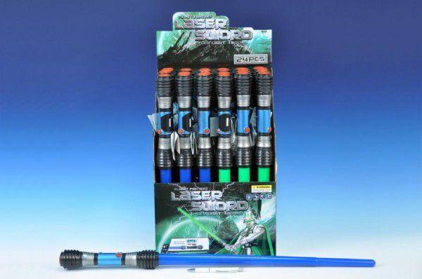 OEM Vesmírný meč svítící plast 83cm na baterie a zvukem 2 barvy