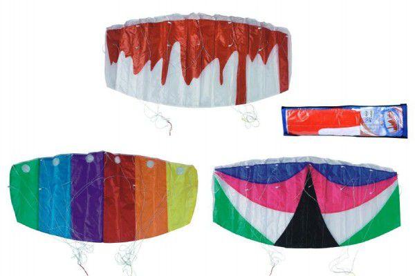 Drak létající padák nylon 120x55cm - 3 barvy