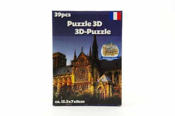 Pěnové puzzle 3D Památky asst různé druhy v krabici 16x22cm