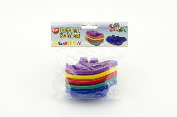 Loď/Lodičky do vany 5ks plast 10cm v sáčku