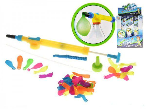 Mikro Trading Vodní bomby 50ks s pumpou plast 30cm v sáčku 24ks v boxu