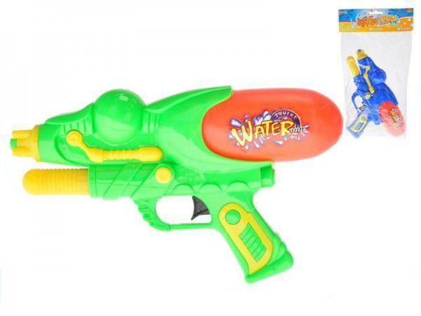Vodní pistole plast 29cm s pumpou  asst 2 barvy v sáčku