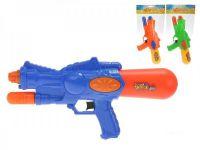 Vodní pistole plast 33cm s pumpou asst 3 barvy v sáčku