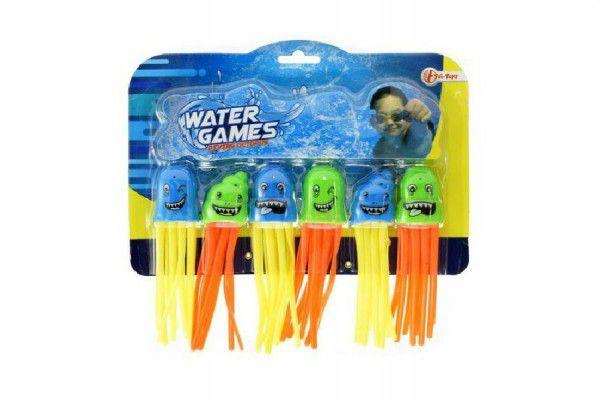 Zábavné míčky pro potápění 6ks plast na kartě 22x20x2cm