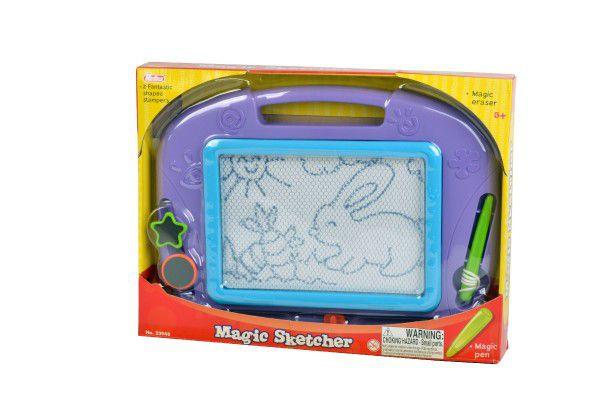 Magnetická tabulka kreslící s doplňky plast 32x24cm
