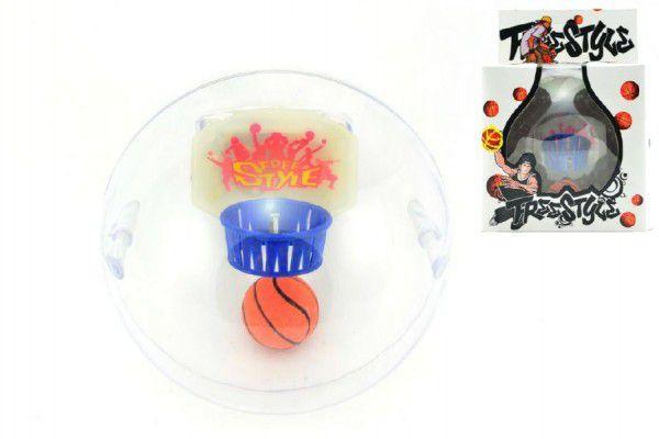 Basketbal hlavolam plast 10cm se zvukem na baterie v krabičce