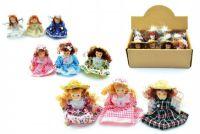 Miniaturní panenka porcelán 8,5cm - více motivů