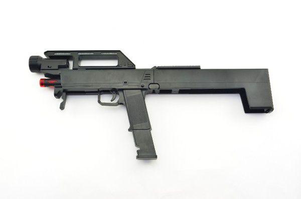 Samopal pistole rozkládací plast 46cm na baterie se světlem se zvukem v krabici