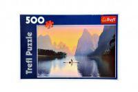Puzzle Řeka Lijiang 48x34cm 500dílků v krabici 40x27x4cm