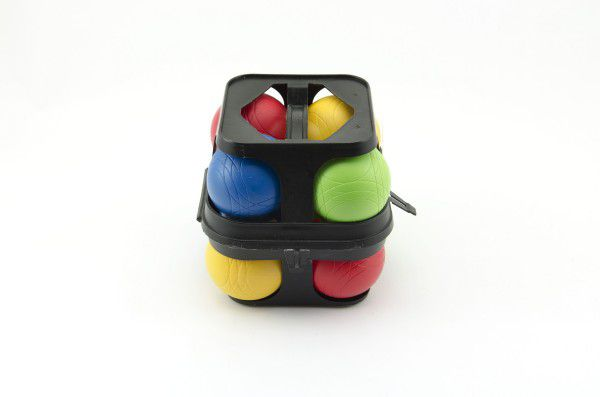 Petanque koule plast 8ks v plastovém kufříku 14x15x14cm
