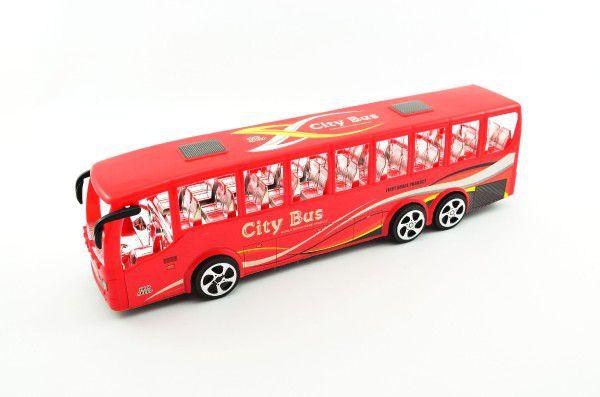 Autobus plast 38cm na setrvačník asst 2 barvy v krabici