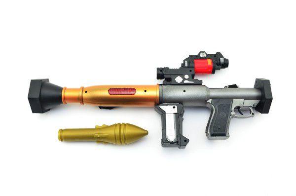 Ruční granátomet RPG plast 48cm se zvukem se světlem na baterie v krabici