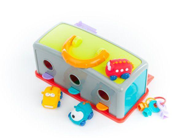 Garáž s autíčky 3ks + doplňky plast 30x14x13cm v krabici 2+