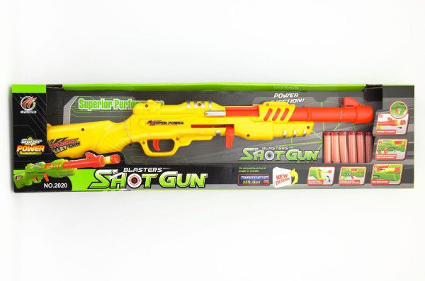 Pistole/puška + pěnové náboje 6ks plast 62cm asst 2 barvy v krabici