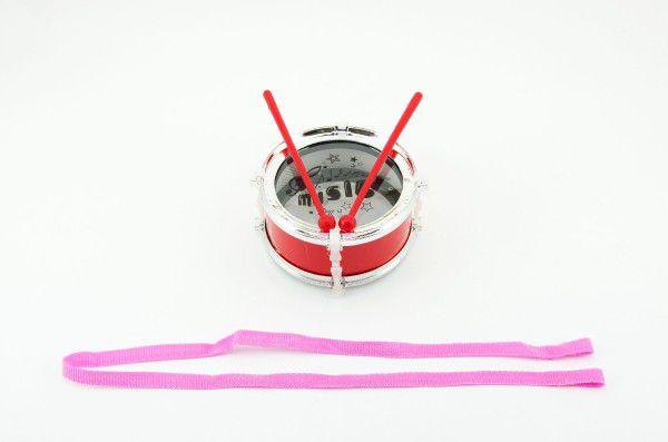 Bubínek plast 12x6cm s popruhem a paličkami v sáčku