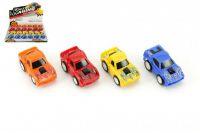 Auto/Autíčko plast 6cm na zpětné natažení - 4 barvy