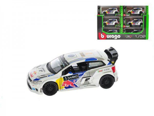 Auto Bburago kov 12cm 2014 Rally VW POLO WRC Team (S. Ogier) 1:32 v krabičce