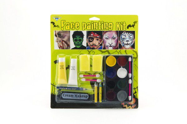Barvy obličejové s doplňky na kartě karneval 24x26x2cm