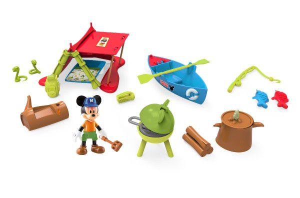 Mickey Mouse Clubhouse sada na piknik plast s kloubovou figurkou 8cm a doplňky v krabičce