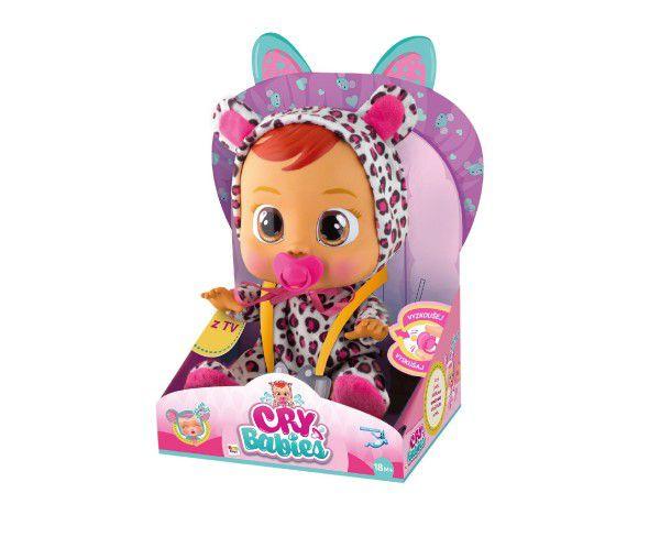Cry Babies Lea 30cm miminko ronící slzy plast na baterie se zvukem v krabičce 18m+