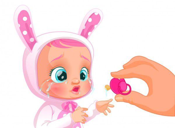 Cry Babies Coney 30cm miminko ronící slzy plast na baterie se zvukem v krabičce 18m+