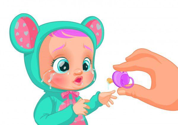 Cry Babies Lala 30cm miminko ronící slzy plast na baterie se zvukem v krabičce 18m+