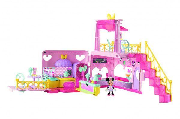 Minnie restaurace 40x15x28cm plast na baterie se světlem a zvukem + 2 figurky s doplňky v krabici