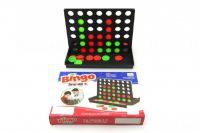 Piškvorky 4 v řadě plast 43ks společenská hra v krabici 24x17x4cm