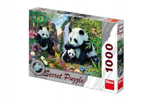 Puzzle Pandy 12 skrytých detailů 1000 dílků 66x47cm v krabici 37x27x5cm