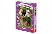 Puzzle Mazlíčci 2x48 dílků 26,4x18,1cm v krabici