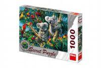 Puzzle Koaly 12 skrytých detailů 1000 dílků 66x47cm v krabici 37x27x5cm