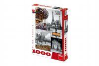 Puzzle Paříž - koláž 1000 dílků 47x66cm v krabici 27x37x5cm
