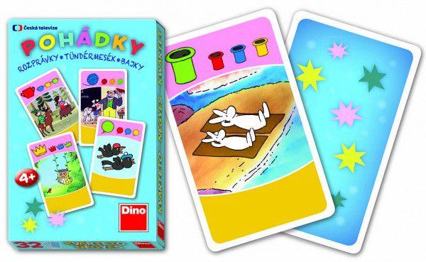 Kvarteto Pohádky společenská hra karty 32 v papírové krabičce 7x10x1cm
