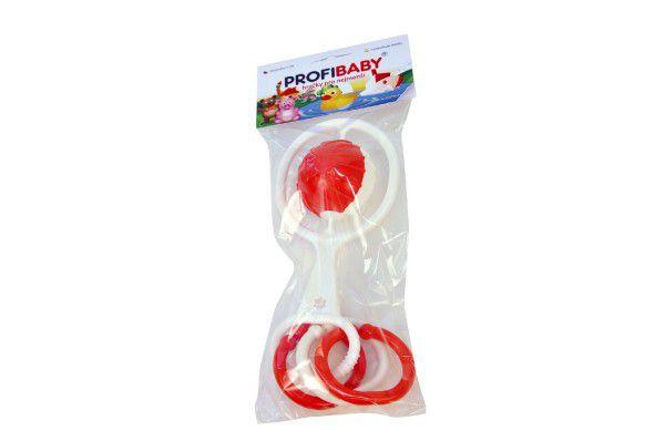 Chrastítko koule s tvary plast průměr 5cm asst v sáčku 0m+